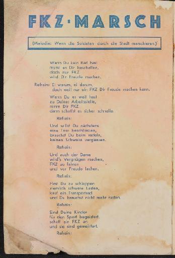 FKZ Fahrrad Katalog 1937