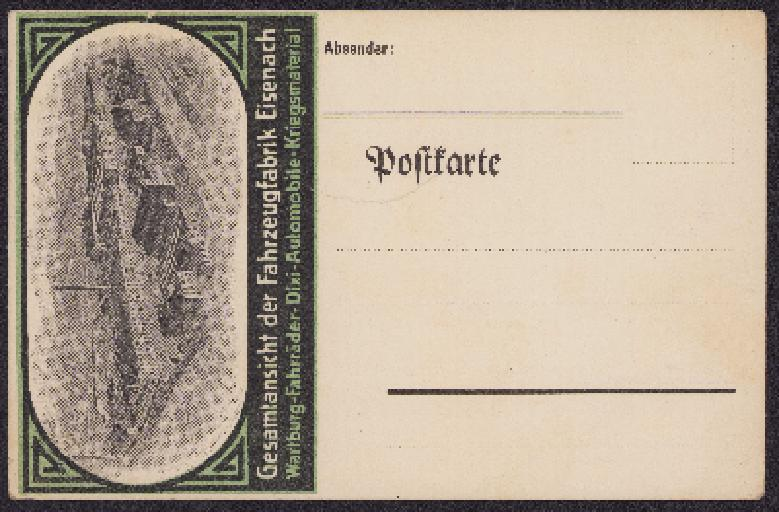 Postkarte Eisenach 1910er Jahre