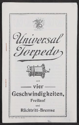 F u. S Universal Torpedo, 4 Gang Nabe, Bedienungsanleitung (Kopie) 1912
