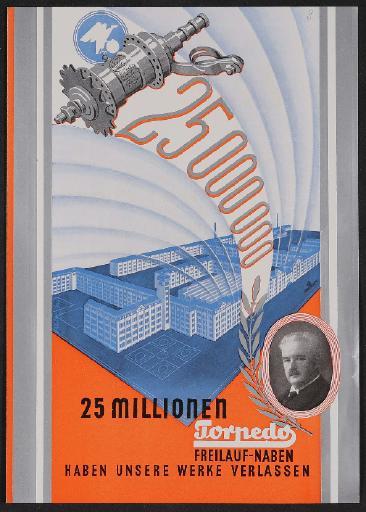 Fichtel u. Sachs 25 Millionen Freilauf-Naben Werbeblatt 1930er Jahre