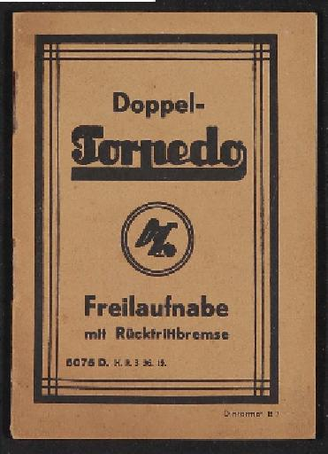 Fichtel u. Sachs Doppel-Torpedo Infoheft 1936
