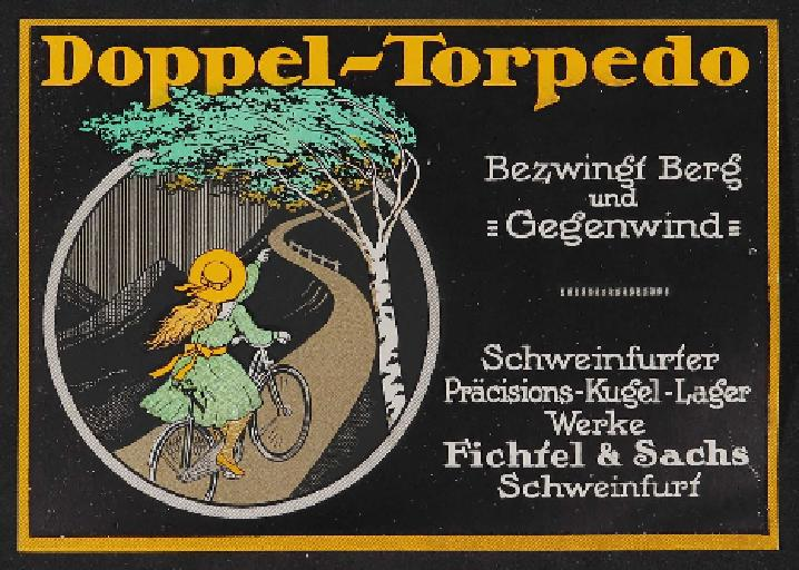 Fichtel u. Sachs Doppel-Torpedo Werbeblatt 1910erJahre