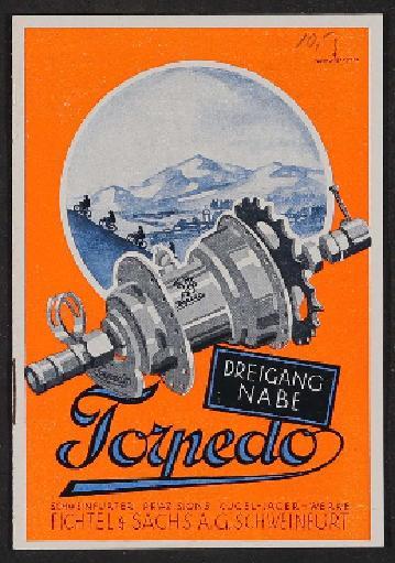 Fichtel u. Sachs Dreigang-Torpedo-Nabe Infoheft 1920er Jahre