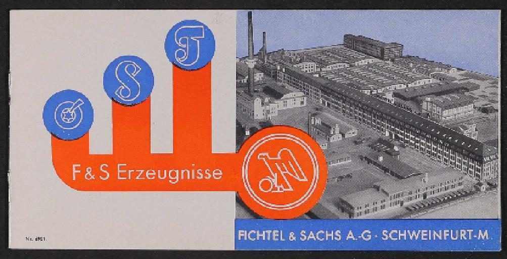 Fichtel u. Sachs Erzeugnisse Informationsbroschüre 1930er Jahre