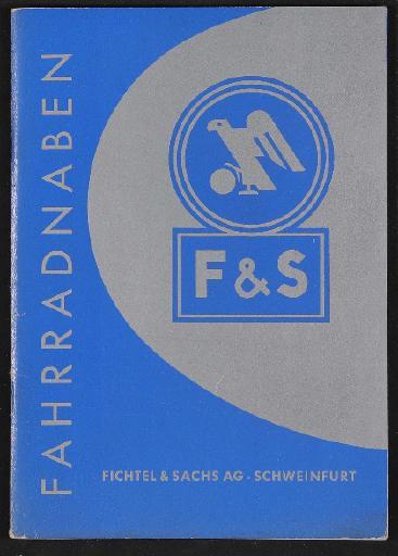 Fichtel u. Sachs Fahrradnaben Informationsbroschüre mit Preisliste 1953
