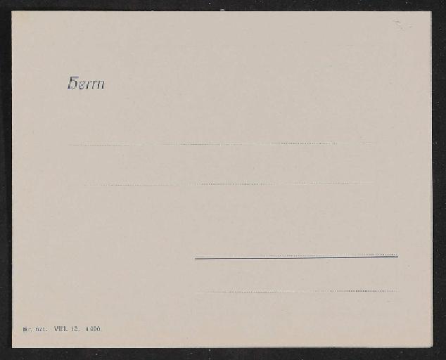 Fichtel u. Sachs Informationsschreiben 1912