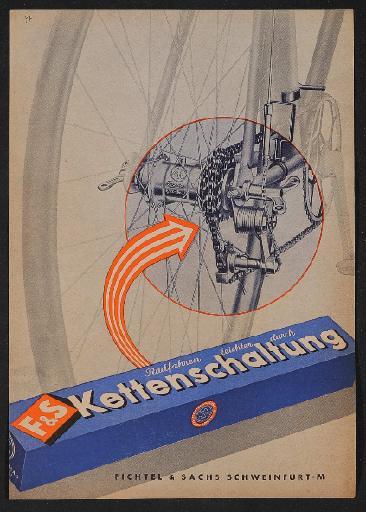 Fichtel u. Sachs Kettenschaltung Werbeblatt 1951
