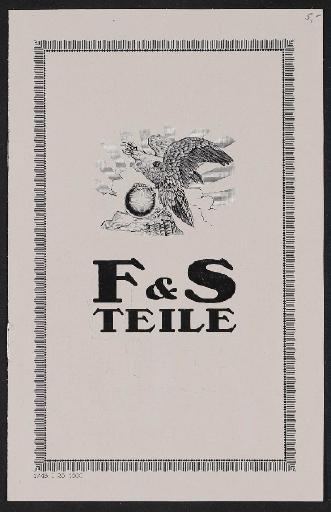 Fichtel u. Sachs Naben-Teileliste 1925