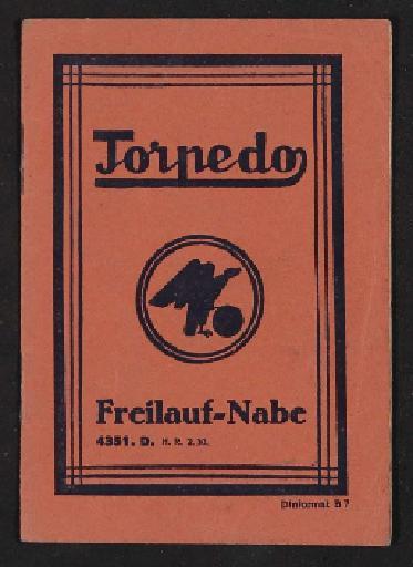 Fichtel u. Sachs Torpedo Freilauf-Nabe  Info-Broschüre 1930