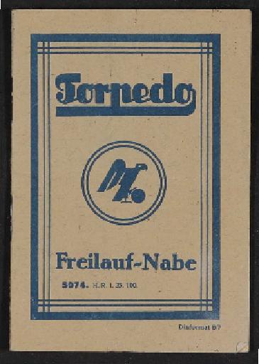 Fichtel u. Sachs Torpedo Freilauf-Nabe Handbuch 1935