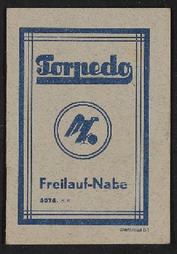 Fichtel u. Sachs Torpedo Freilauf-Nabe Infoheft 1930er Jahre