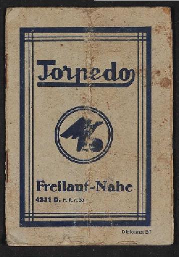 Fichtel u. Sachs Torpedo Freilauf-Nabe Informationsheft 1930er Jahre