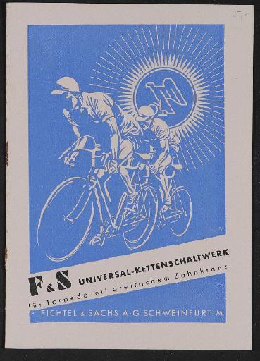 Fichtel u. Sachs Universal-Kettenschaltwerk für Torpedonabe mit dreifachem Zahnkranz Infobroschüre 1941