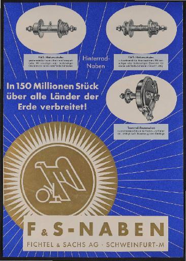 Fichtel u. Sachs Werbeplakat für Händler 1939