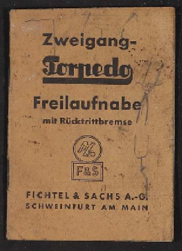 Fichtel u. Sachs Zweigang-Torpedo Freilaufnabe Infoheft 1930er Jahre