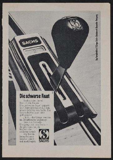 Fichtel und Sachs Sportschaltgriff für Torpedo-Dreigang-Nabe Annonce 1971