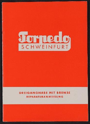 Fichtel und Sachs Torpedo Dreigangnabe mit Bremse Reparaturanweisung 1950er Jahre