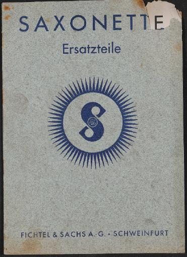 Saxonette Ersatzteile 1938