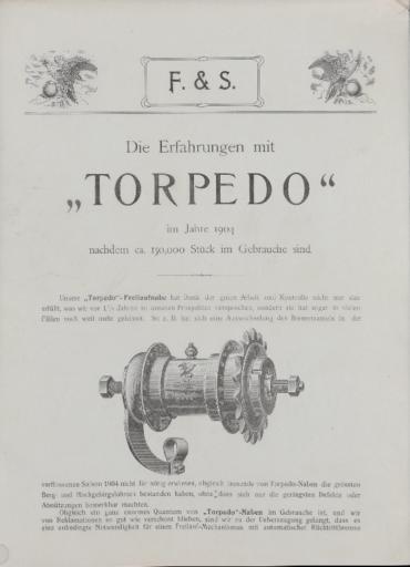 Torpedo Freilaufnabe Faltblatt 1904