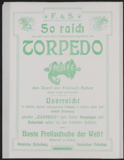 Torpedo Werbeblatt 1907