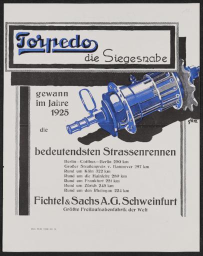 Torpedo Werbeblatt 1925