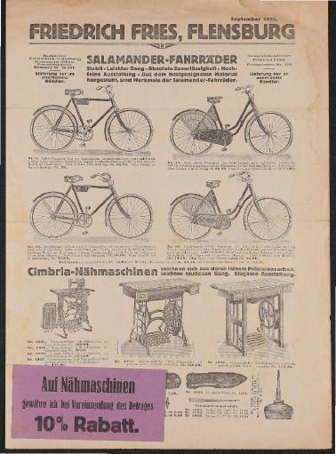 Salamander Fahrräder Großhändler-Prospekt 1924