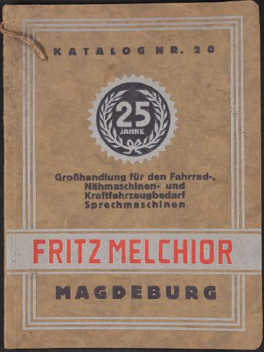 Fritz Melchior Katalog 1928