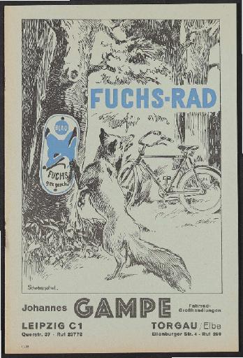 Fuchs-Rad, Johannes Gampe, Prospekt, 1938