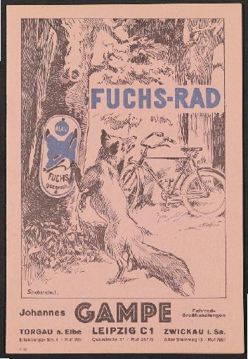Fuchs-Rad, Johannes Gampe, Prospekt, 1939