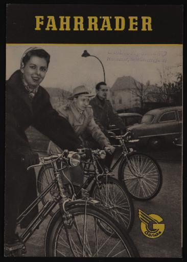 Göricke Fahrräder Faltblatt 1950er Jahre