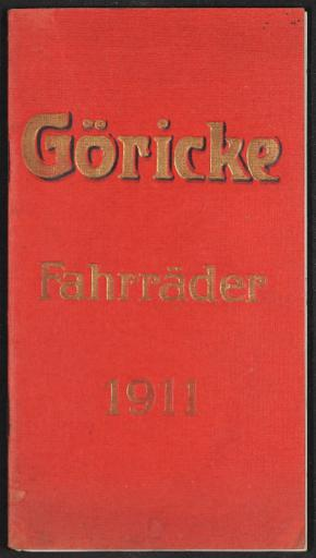 Göricke Fahrräder Katalog 1911