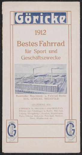 Göricke Faltblatt 1912