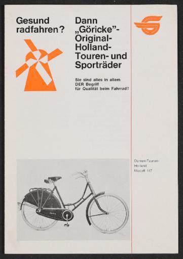 Göricke Holland Touren- und Sporträder Prospekt 1960er Jahre