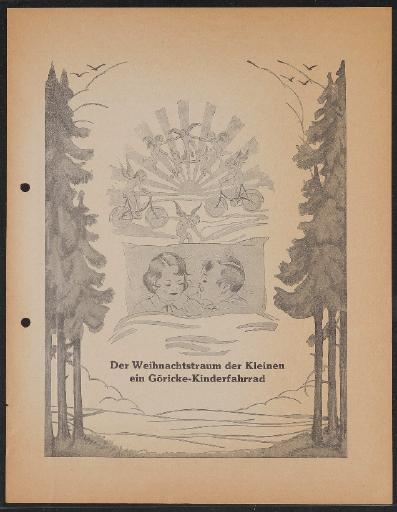 Göricke Kinderfahrrad Werbeblatt 1920er Jahre