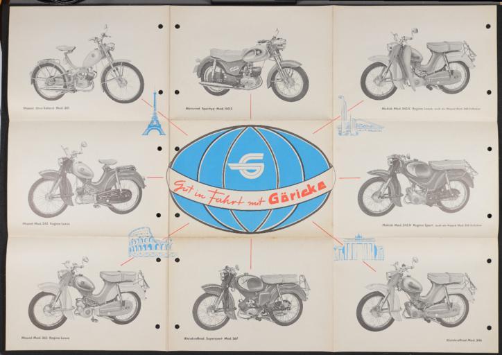 Göricke Moped Kleinkraftrad  Mokick Motorrad Faltblatt 1961