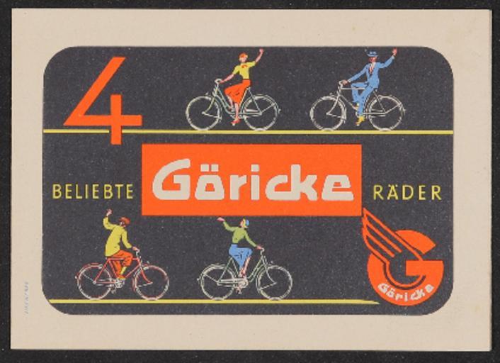 Göricke Räder Faltblatt 1960er Jahre