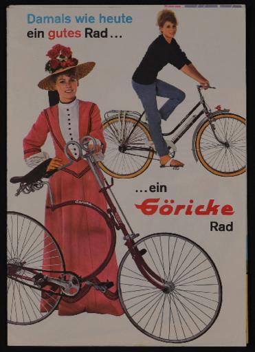Göricke Rad Faltblatt 1963