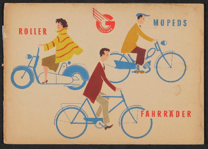 Göricke Roller Mopeds Fahrräder Katalog 1950er Jahre