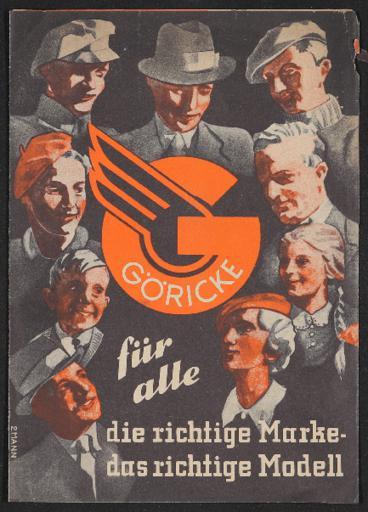 Göricke Transporträder Faltblatt 1930er Jahre