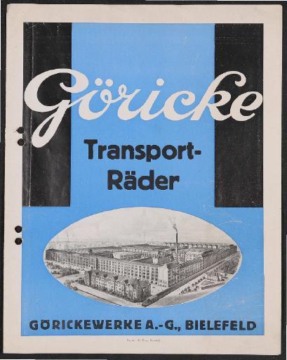 Göricke Transporträder Prospekt 1920er Jahre