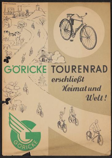 Göricke Werbeblatt   1930er Jahre