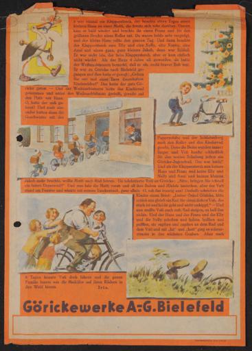 Göricke Werbung Werbegeschichte 1920er Jahre