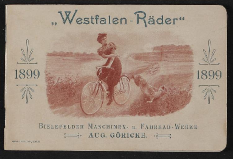 Göricke Westfalen-Räder Katalog 1899