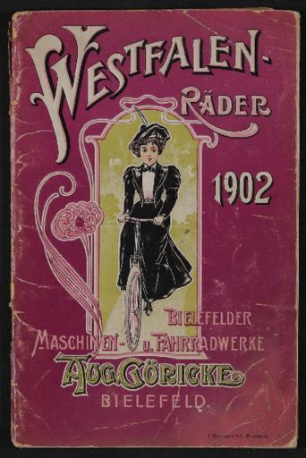 Göricke Westfalen-Räder Katalog 1902