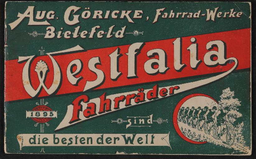 Göricke Westfalia-Fahrräder Katalog 1895