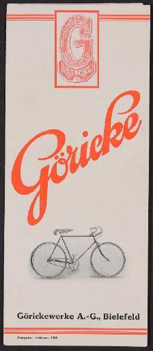 Göricke, Faltblatt 1928