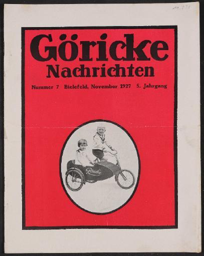Göricke, Nachrichten Nr. 7, 5. Jahrgang 1927