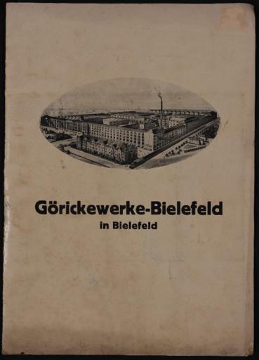 Görickewerke-Bielefeld Händlerinfomappe 1932