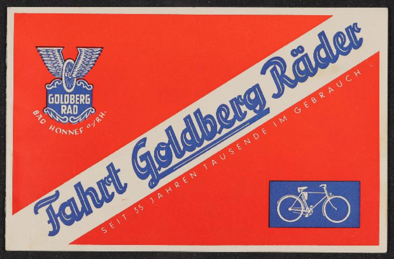 Goldberg Rad Katalog 1937