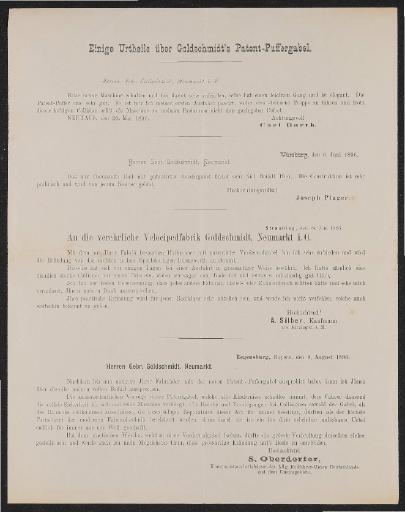 Goldschmidt Velocipedfabrik Kunden-Urteile zur Patent-Puffergabel 1896